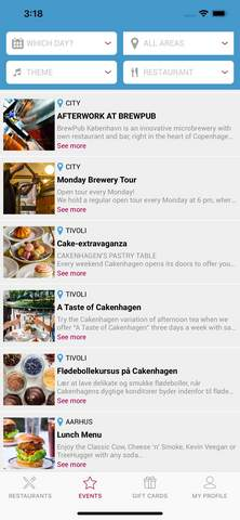 DinnerBooking mobil app